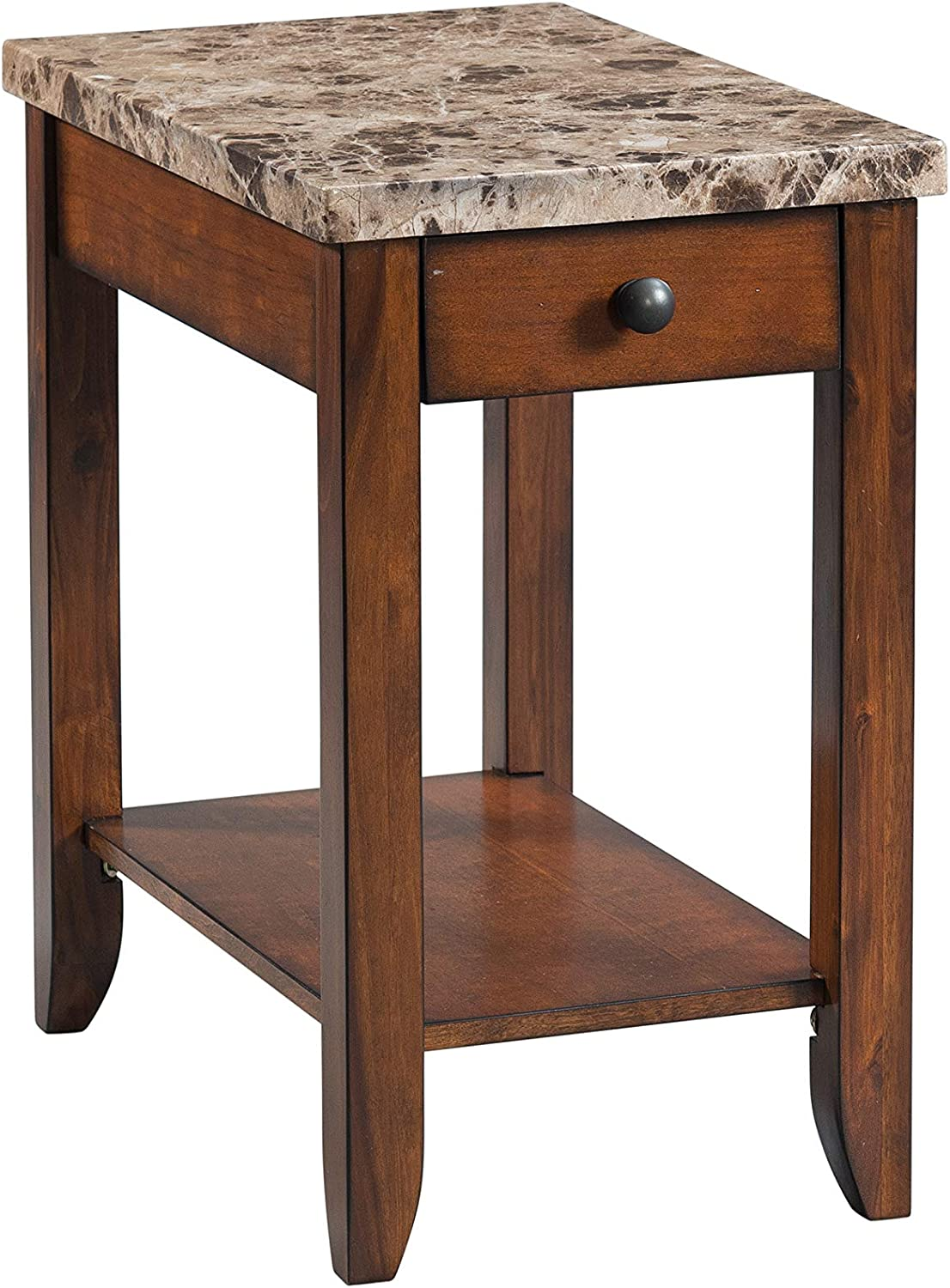 Lane Home Furnishings Chairside Table - Power, Lift-Top Cocktail, Brown