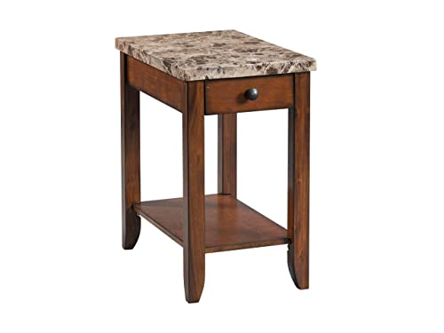 Lane Home Furnishings Chairside Table – Power, Lift-Top Cocktail, Brown