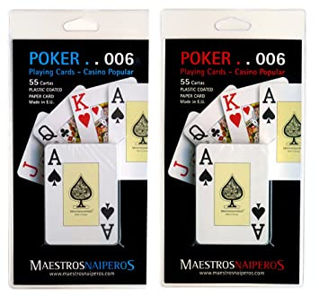 Maestros Naiperos baraja Poker, Jumbo, inglés, 55, Cartas ...