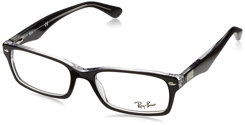 Amazon.com: Ray-Ban Men\'s RX5206 Eyeglasses Dark Havana 52mm: Clothing