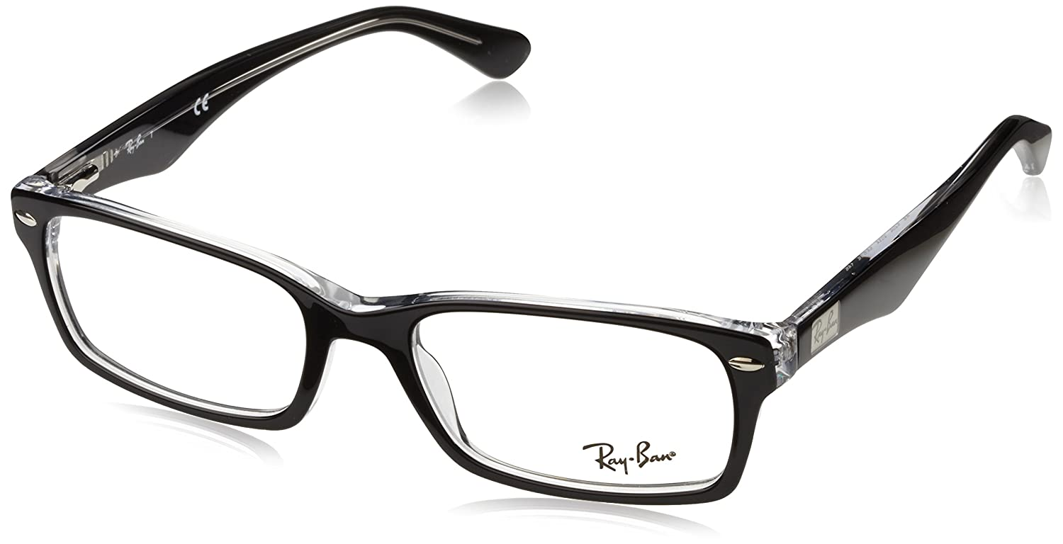 Amazon.com: Ray-Ban Men\'s RX5206 Eyeglasses Dark Havana 52mm: Clothing