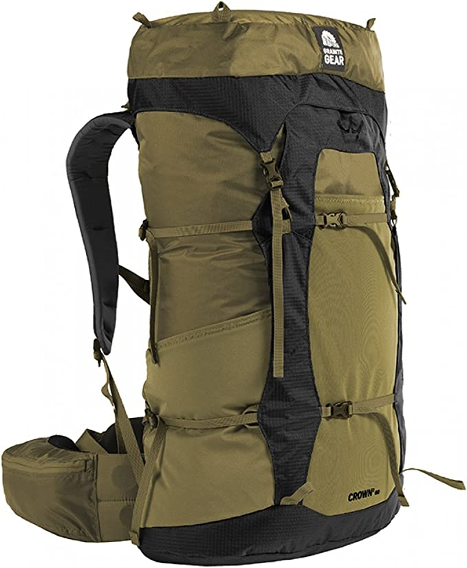 Image of the Granite Gear Crown Backpack for men in moss green color.