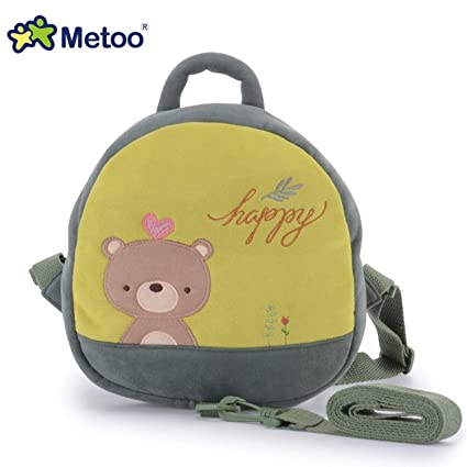 Jewh 25cm MeToo Doll Plush Backpack Prevent Fall Traction Package School Shoulder Bags for Children Kids
