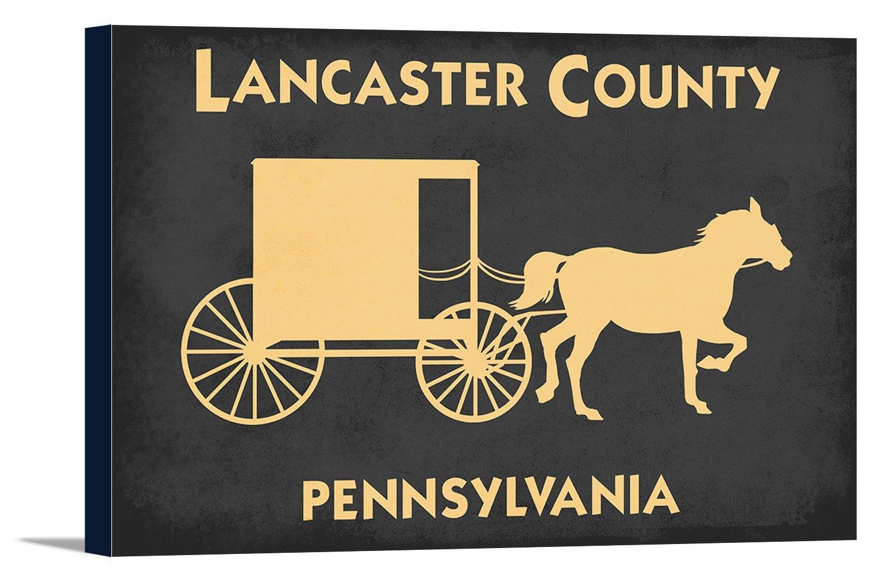 ランカスター, Pennsylvania – 馬とバギー 36 x 24 Gallery Canvas LANT-3P-SC-79149-24x36 B06WD7F2NN  36 x 24 Gallery Canvas