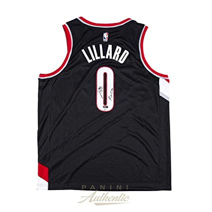 d00078f91 Image Unavailable. Image not available for. Color  Damian Lillard  Autographed Black Nike Portland Trailblazers Swingman Jersey with quot Rip  City ...