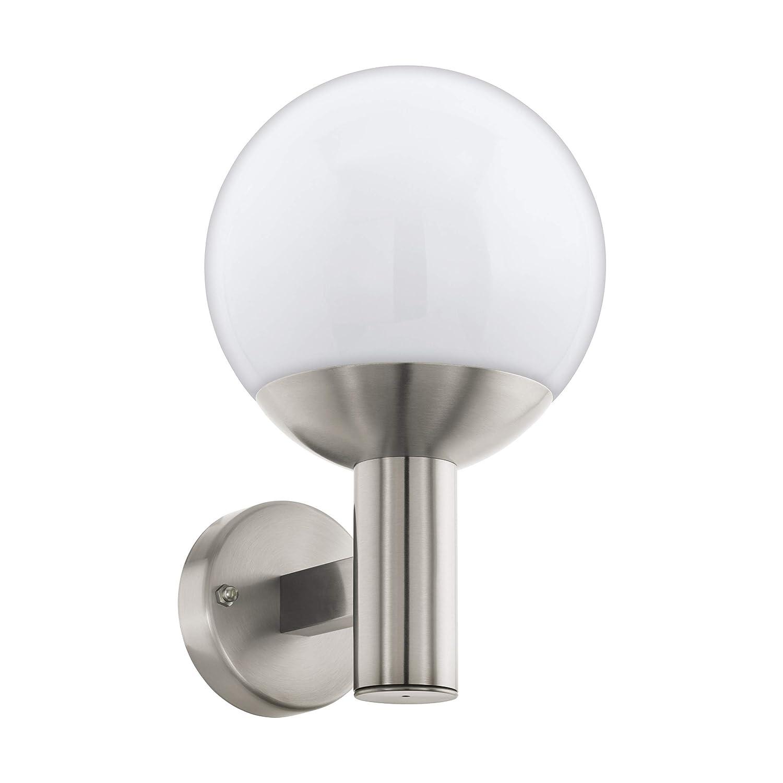 Eglo NISIA-C - Lampada da parete in acciaio INOX, 9 W