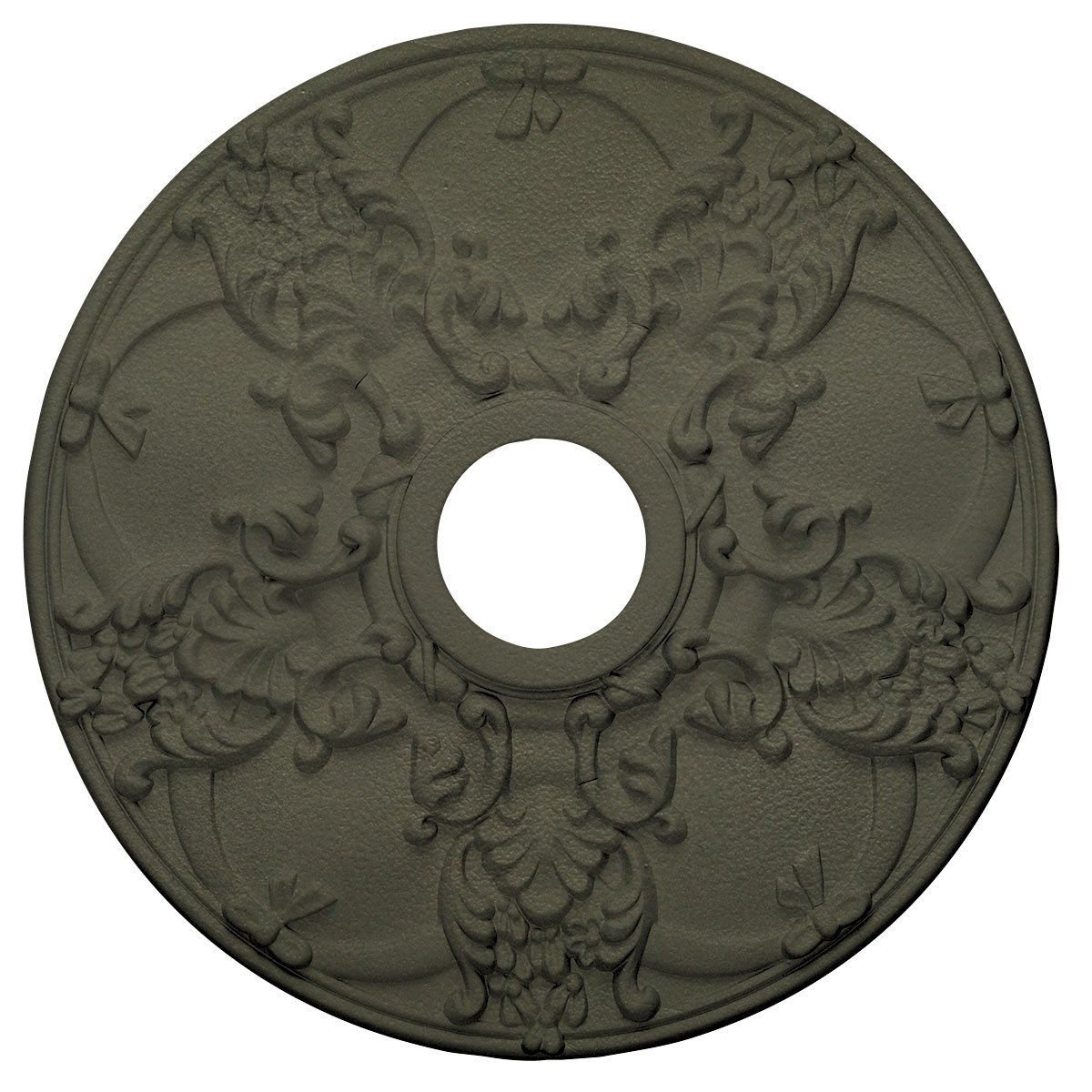 Ekena Millwork CM18NOPTF Norwich Ceiling Medallion, Painted Turtle