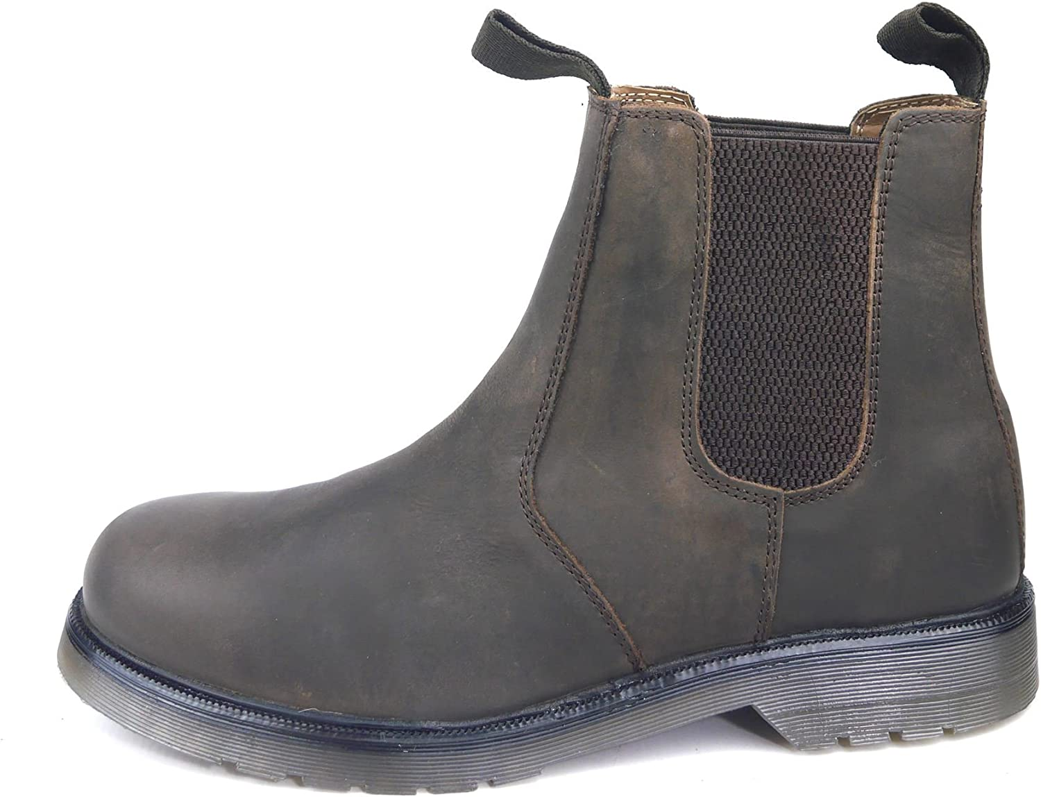 Frank James Goodwood Leather Boys Dealer Chelsea Airsole Boots Chocolate Brown