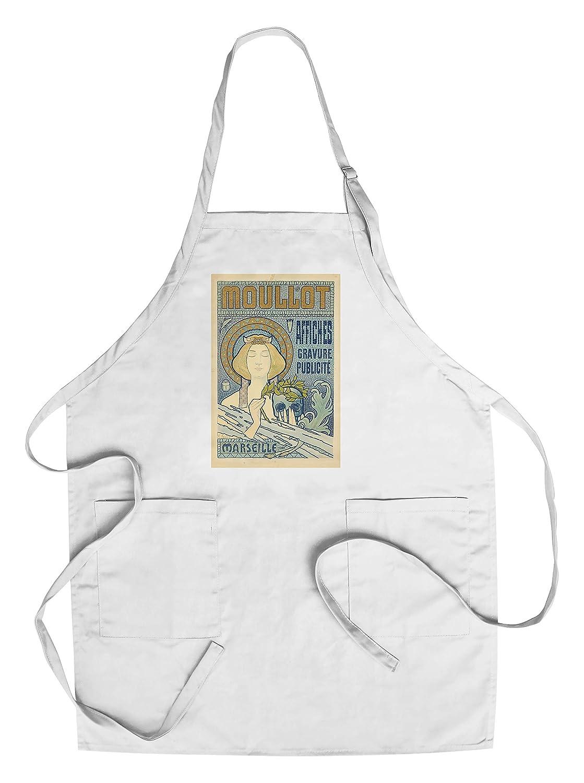 Moullotヴィンテージポスター(アーティスト: Roux、E。)フランスC。1897 Chef's Apron LANT-65296-AP B018NONXP8  Chef's Apron