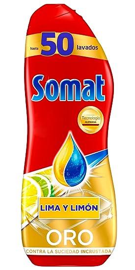Somat Oro Gel Lavavajillas Limón - 50 Lavados (900 ml ...