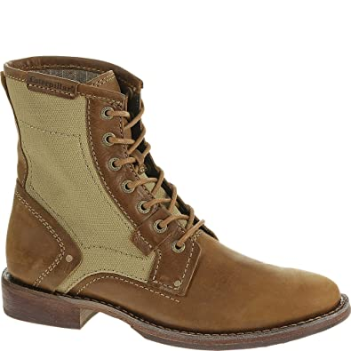 "b4d7f66a Caterpillar Abe Canvas 6"" Mens Boots P718838 Bagpipe ..."