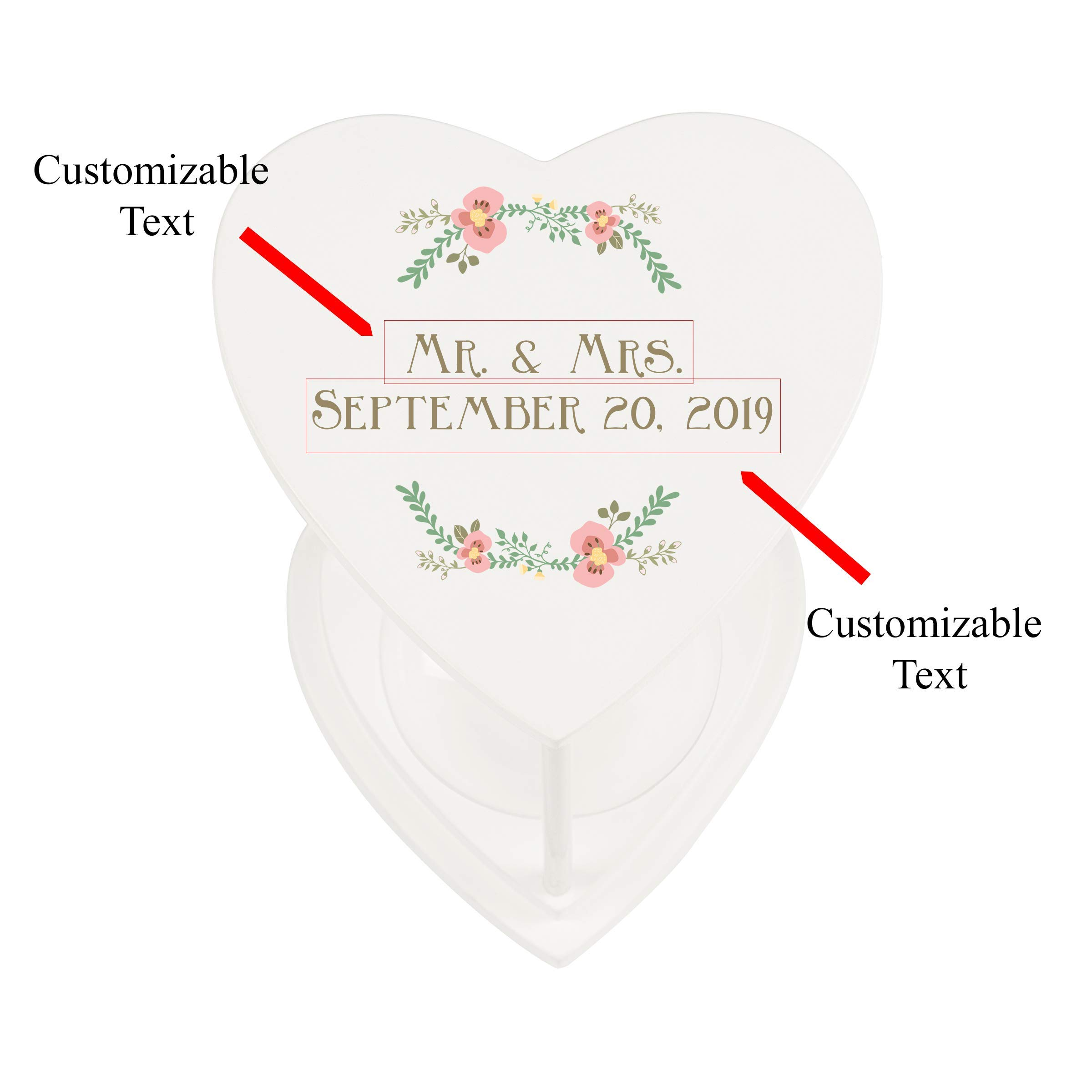 Cathy's Concepts Personalized Floral Unity Sand Ceremony Hourglass Set by Cathy's Concepts (Image #1)