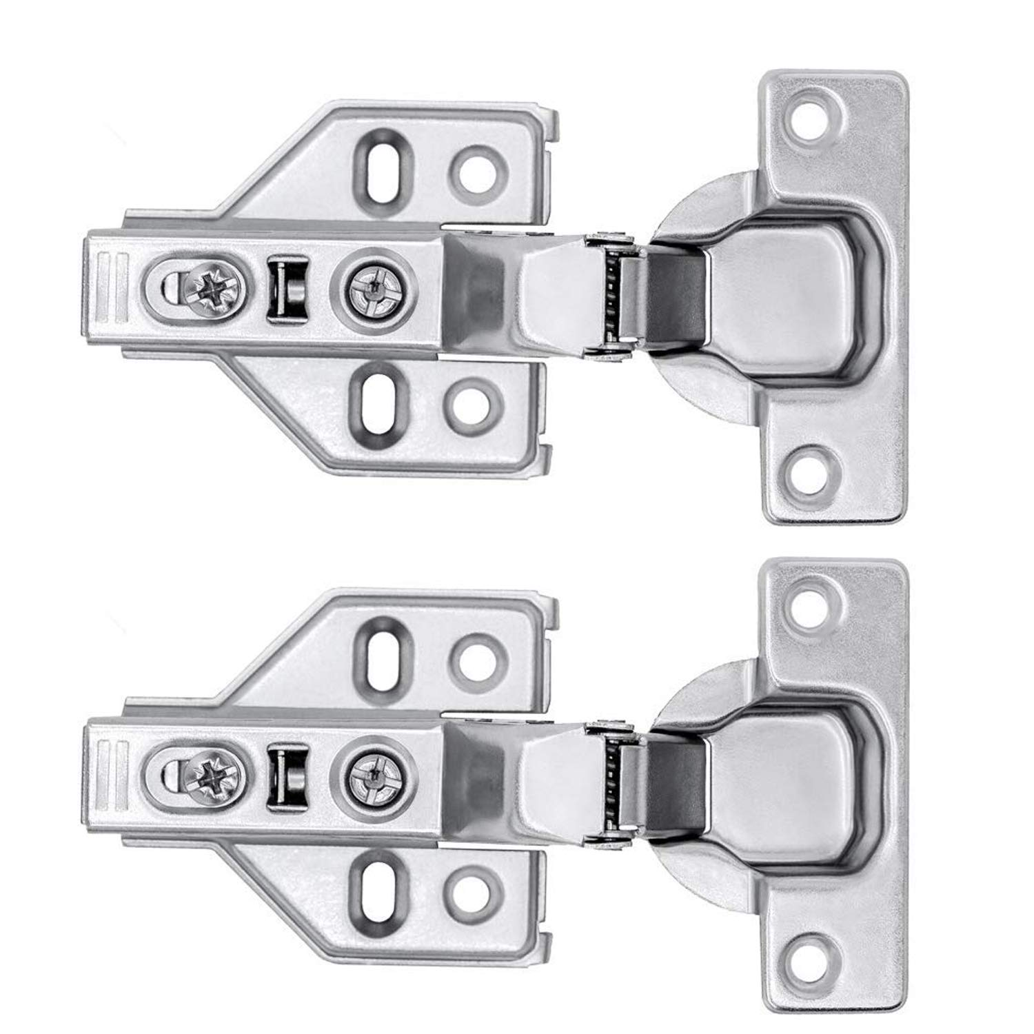 Autoly 2Pcs Cabinet Insert-Type Concealed Hinges Detachable Hydraulic Buffer Hinges for Inside Installtion