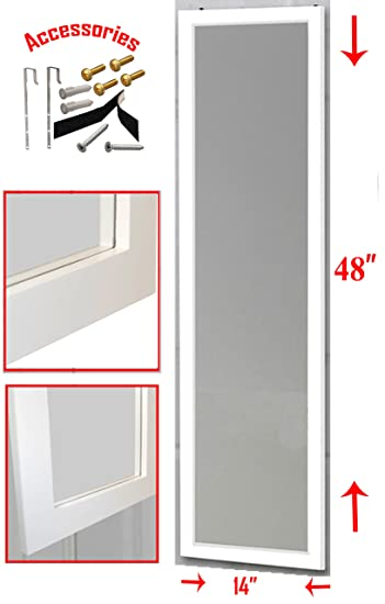 Over the Door Mirror / Wall Mirror (14u201d x 48u201d) u2013 Full  sc 1 st  Amazon.com : 48 door - pezcame.com