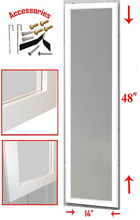 Over The Door Mirror / Wall Mirror (14u201d X 48u201d) U2013 Full