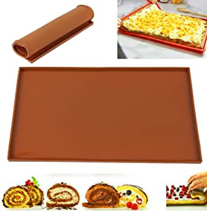 The Silicone Kitchen Silicone Oven Baking Mats | Non-Stick | Non-Slip | Food Grade Silica Gel | Extra Thick | Large Capacity - Brown