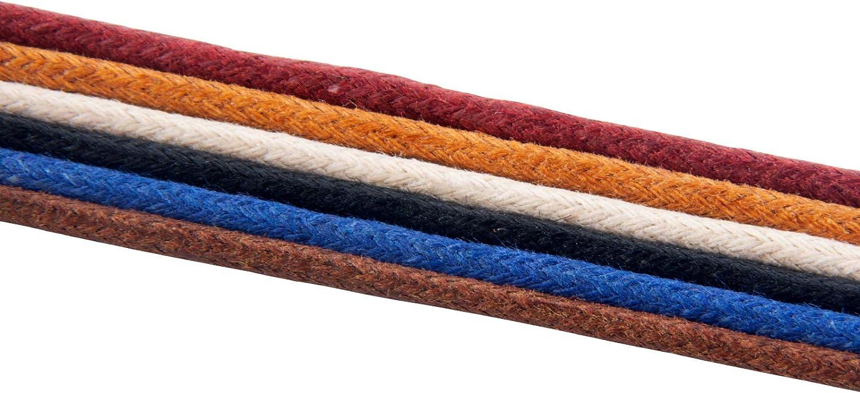 longueurs 80 cm lacets durables 100/% coton de haute qualit/é ind/échirables Petits lacets ronds en coton cir/é Lacets fins pour chaussures habill/ées et bottes 7 couleurs Knixmax Lacets Ronds