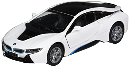 Amazon Com Kinsmart Bmw I8 1 36 Scale Super Car White Toys Games