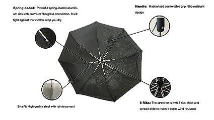 Cambio de color paraguas automático abierto y cerrado a prueba de ...