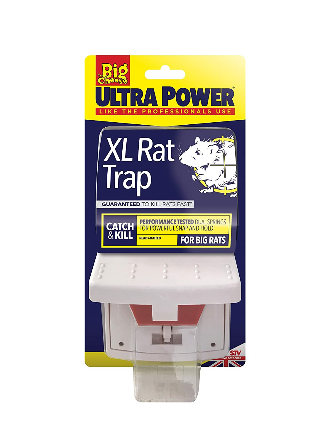 STV International The Big Cheese Ultra Power Super Rat Trap (Powerful,  Super-Sized Trap, Kills Rodent Pests Instantly, Quick Results Guaranteed)