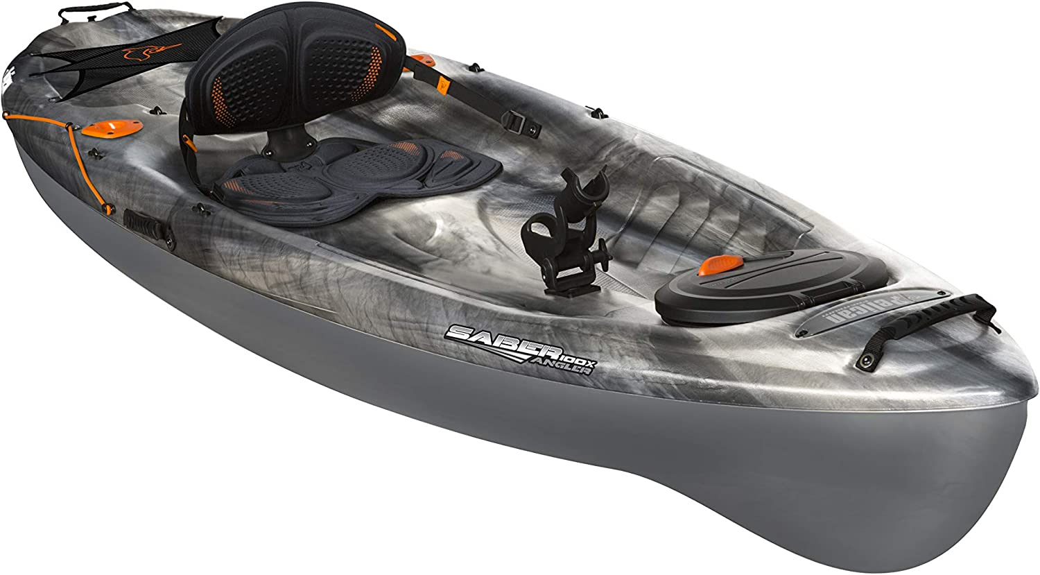 Amazon Com Pelican Saber 100x Angler Sit On Top Fishing Kayak Kayak 10 Feet Lightweight One Person Kayak Perfect For Fishing Granite Magnetic Grey One Size Sports Outdoors