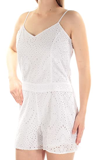 7a5186b25379 Amazon.com  1.State Womens V-Neck Flat Front Romper  Clothing