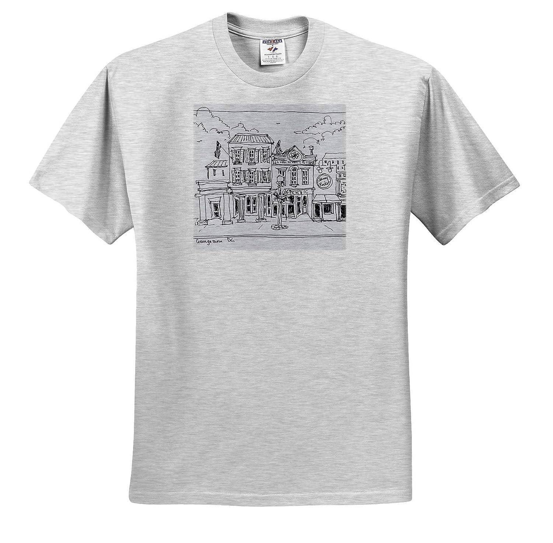 Washington DC Drawing of M Street in Georgetown Washington DC ts/_313043 - Adult T-Shirt XL 3dRose Danita Delimont