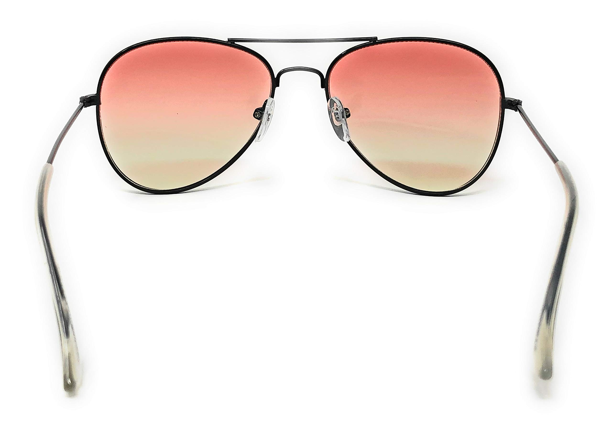 My Shades - Little Children's Kids Classic Retro Aviator Sunglasses Metal Frame Ages 2 to 5 (Two Tone, Orange/Yellow) by WebDeals (Image #5)