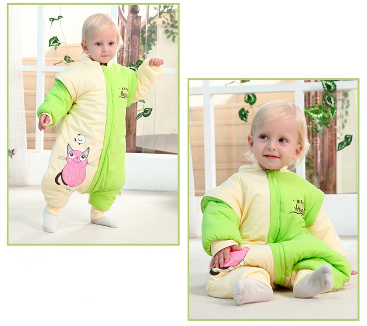 66a738d04c63 Amazon.com  Chilsuessy Winter Sleeping Bag for Baby with Feet ...