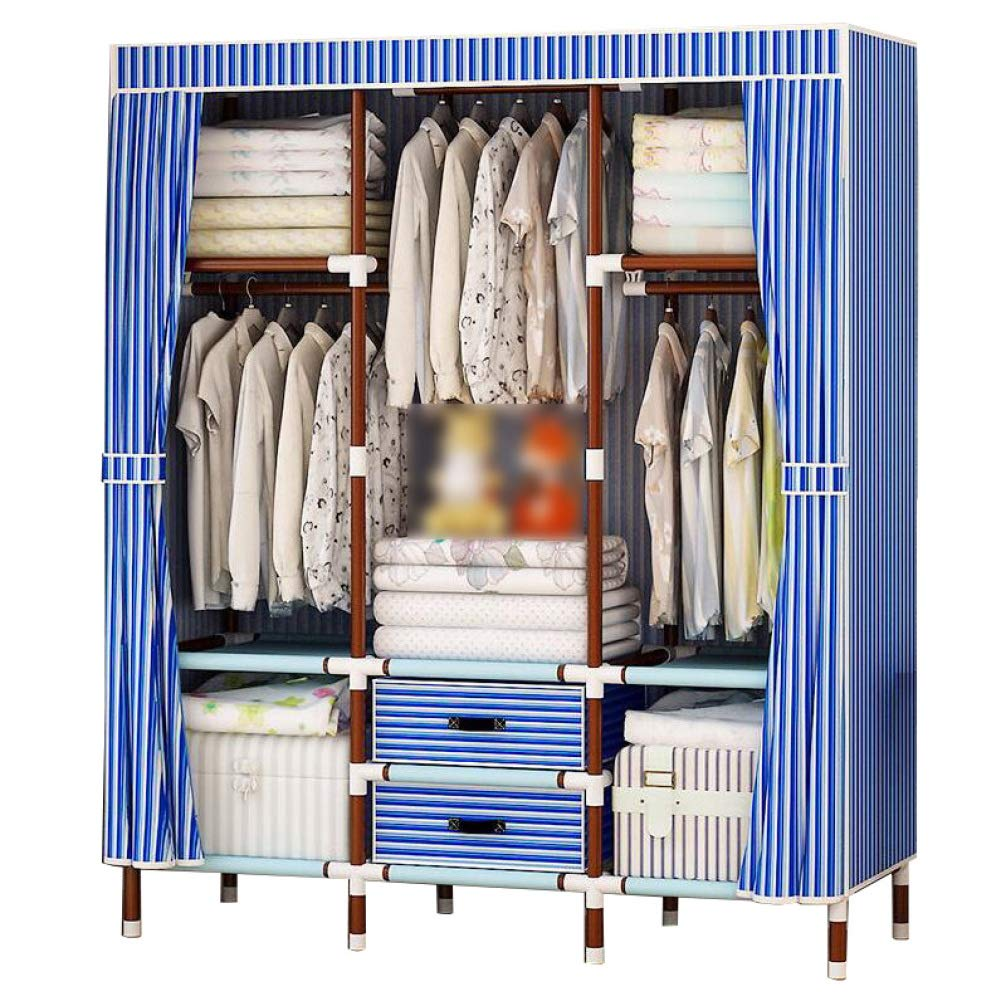 Hmeigui Portable Wardrobe Closet Storage Organization