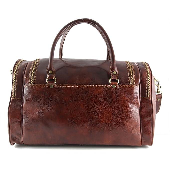 Tuscany Leather - Prague - Sac de voyage en cuir Marron - TL1048/1 5H4Q7IMq