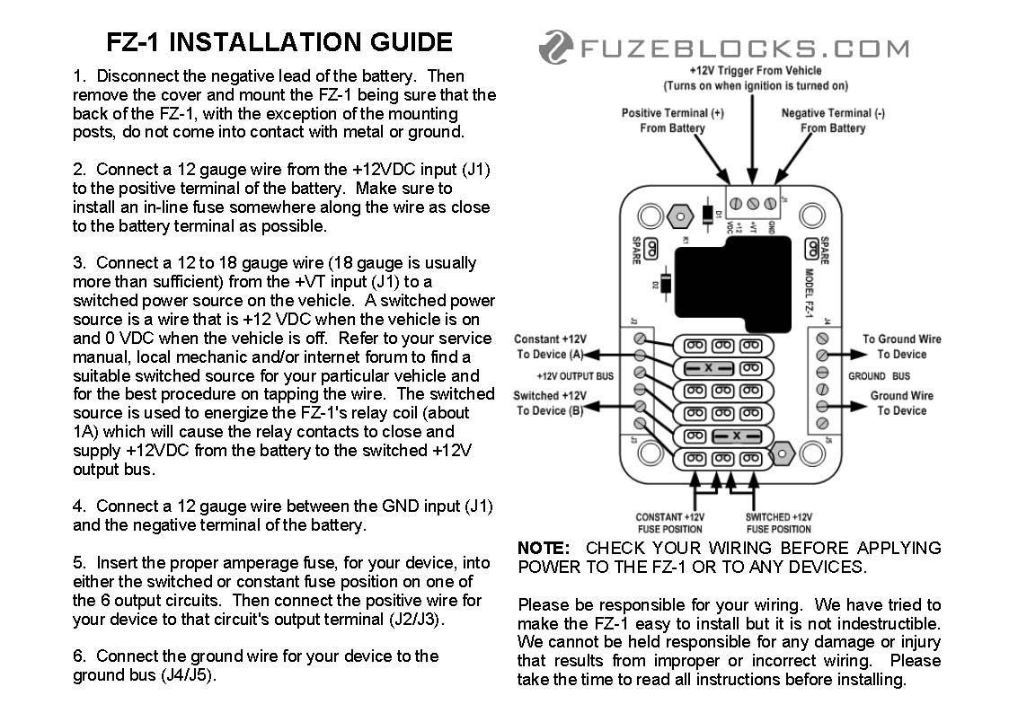 amazon com fuzeblocks fz 1 power distribution block automotive FZ 16
