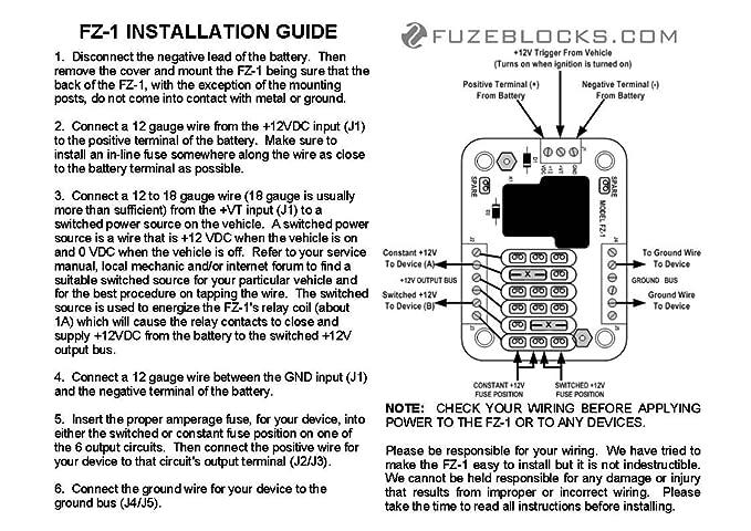 Fz 1 Fuse Block | Wiring Diagram