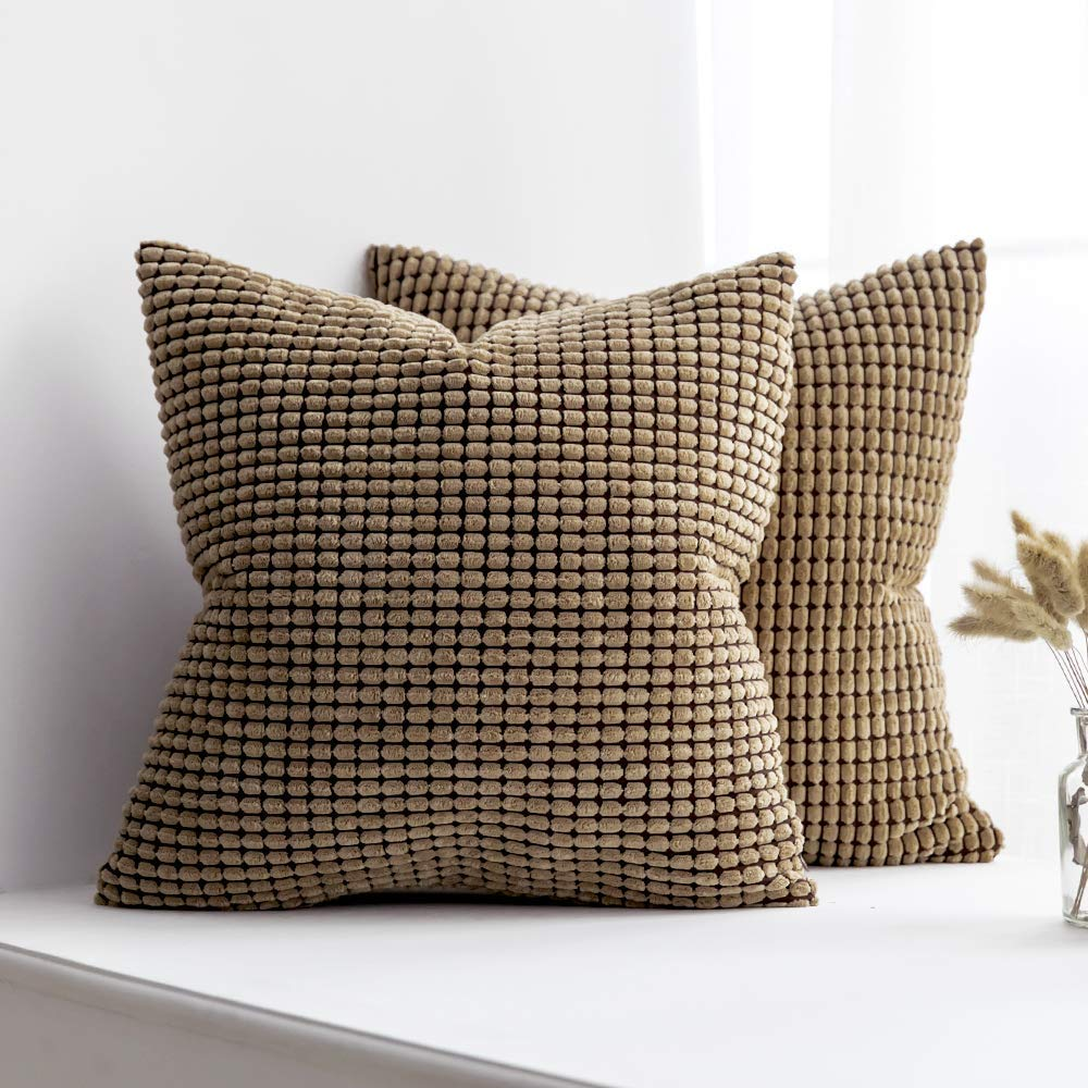 Miulee Pack Of 2 Decorative Throw Pillow Covers Soft