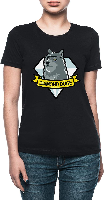 Vendax Diamond Doge Camiseta Mujer Negro: Amazon.es: Ropa y accesorios