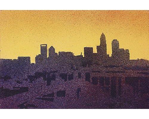 North Carolina Watercolor Silhouette