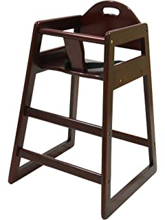 la baby restaurant style stackable wood high chair cherry