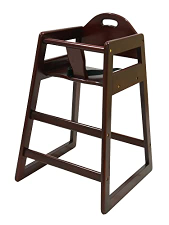Exceptionnel LA Baby Restaurant Style Stack Able Wood High Chair   Cherry