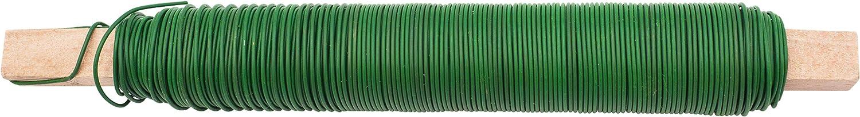 grosor de 0,65 mm para flores y plantas alambre para manualidades enrollado en varilla de madera 100 g cada uno Juego de 3 alambres color verde