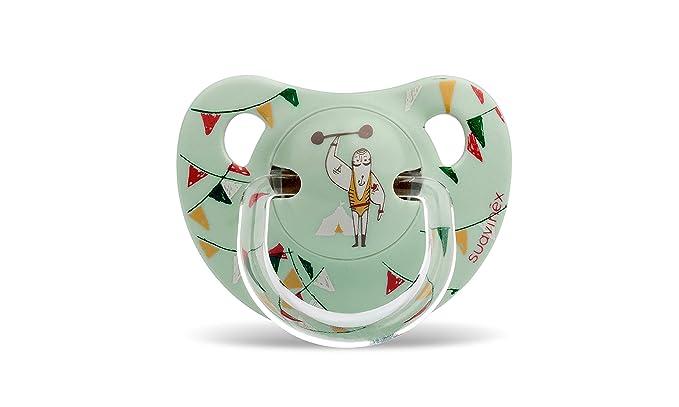 Suavinex - Chupete Tetina Anatómica Látex. Chupete 0-6 Meses. 0% BPA, Diseño Panda Color Rosa