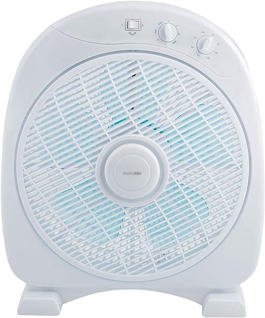 UNIVERSALBLUE | Ventilador Suelo Blanco | 50 W | Temporizador | 3 ...