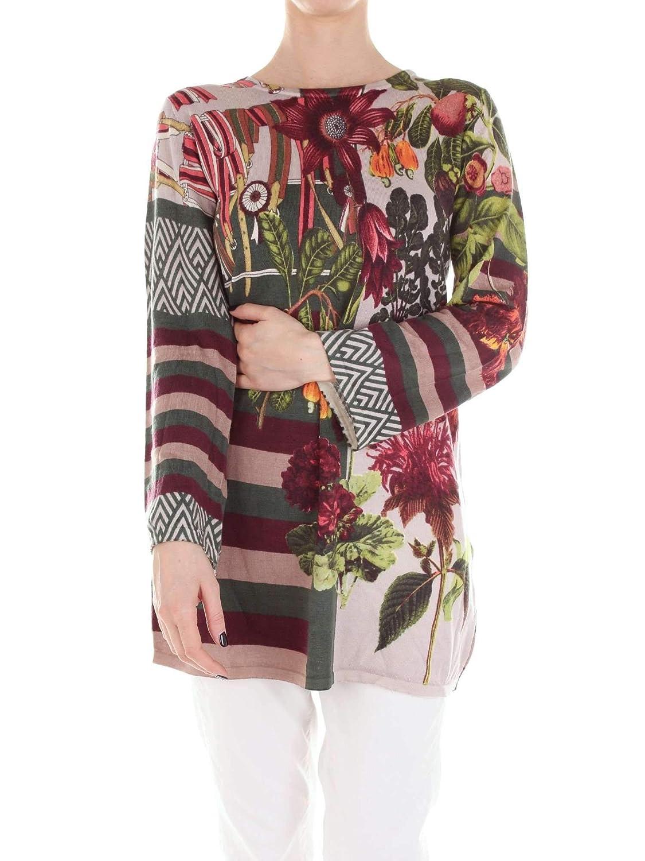 Jei's By Letizia Denaro Women's H253GREEN Green Wool Jumper