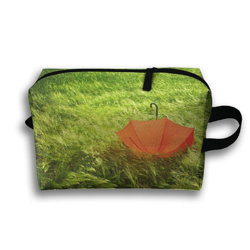 3b1dad660f8 LEIJGS Beautiful Green Grass Umbrella Small Travel Toiletry Bag Super Light  Toiletry Organizer For Overnight Trip