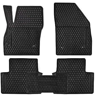 Ucaskin Car Floor Mats Custom Fit for Buick Verano 2020 2016 2015 2014 2013 2012 Odorless Washable Rubber Foot Carpet Heavy Duty Anti-Slip All Weather Protection Car Floor Liner-Black: Automotive