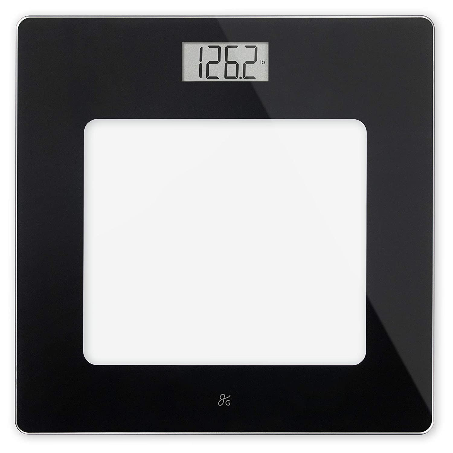 . GreaterGoods Bathroom Scale  Digital Body Weight Scale  Glass Top Scale   Pounds and Kilograms