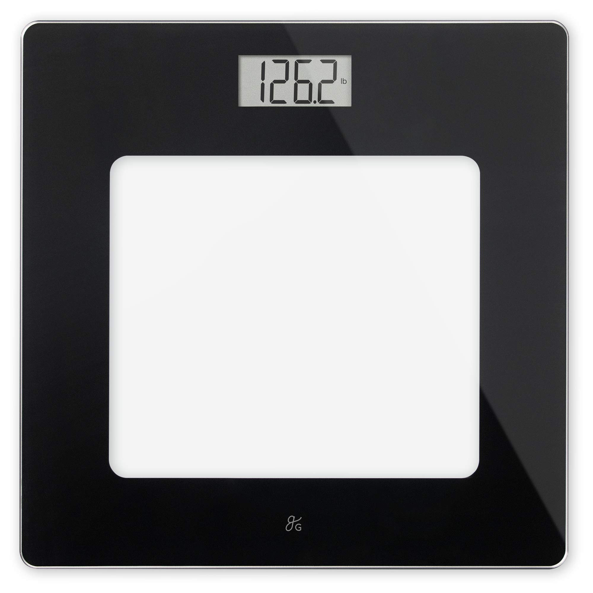 GreaterGoods Bathroom Scale, Digital Body Weight Scale, Glass Top Scale, Pounds and Kilograms by Greater Goods