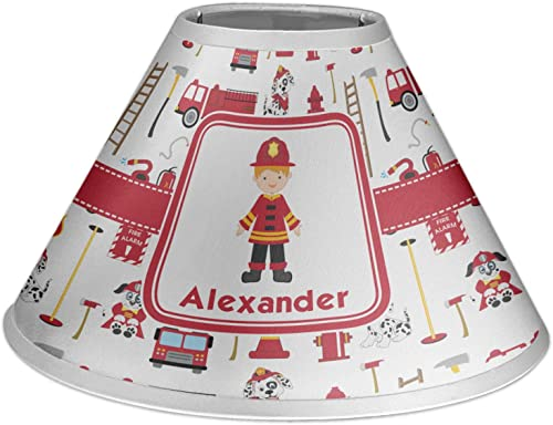 RNK Shops Firefighter for Kids Coolie Lamp Shade Personalized