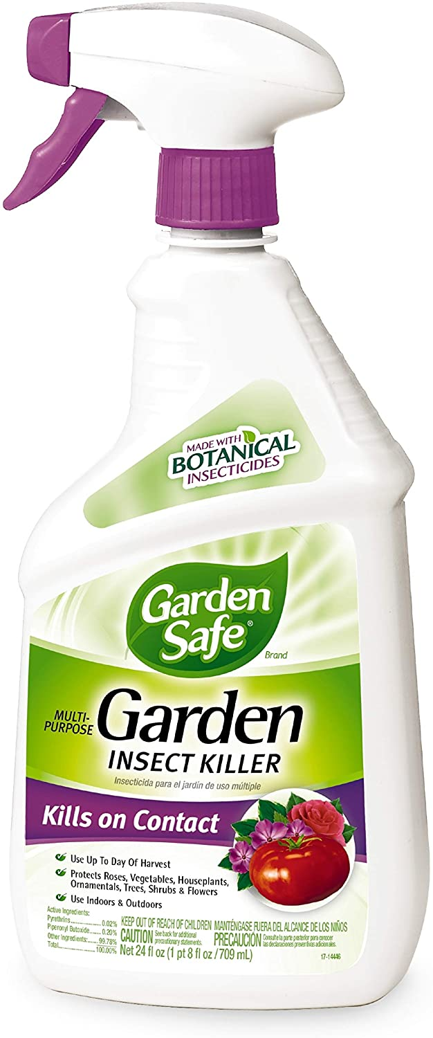 Garden Safe Brand Multi-Purpose Garden Insect Killer, Ready-to-Use, 24-Ounce