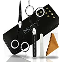 Professional Hair Cutting Set 5.5 Inch Barber and Home Use Scissors Stainless Steel Hairdressing Scissors with Leather…
