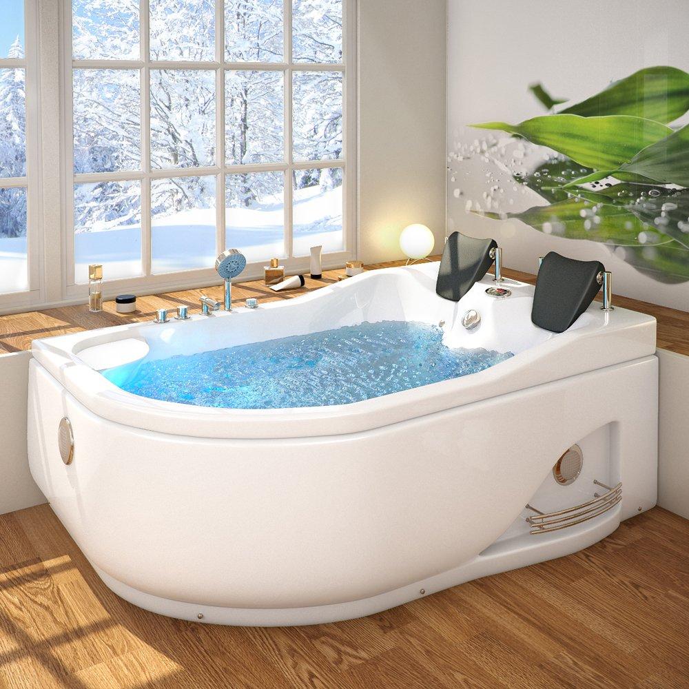 Whirlpool corner bath tub 2 person corner spa bath Jacuzzi right ...
